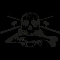 JSA Fishing Skull (L) black in high quality