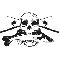 JSA Fishing Skull (R) black in high quality!