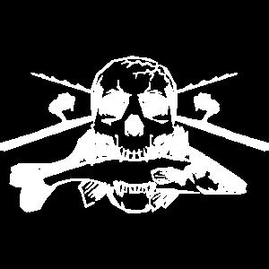 JSA Fishing Skull (R) white in high quality!