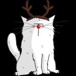 Mrou le chat Renne de Noël