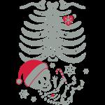 Skeleton Maternity Santa Hat