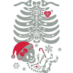 Christmas Skelly Baby Girl