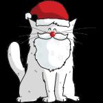 Mrou le Chat Père Noël