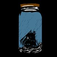 Das Piratenschiff in der Flasche