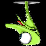 Lustiger Vogel Strauß