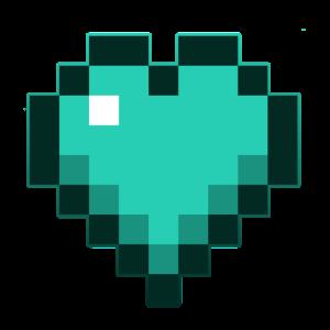 Blue Pixel Heart