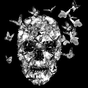 Schmetteringe Totenkopf Used Look