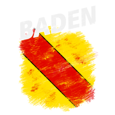 Baden - Wappen des historischen Landes und der Region Baden mit weißem Titel - Wappen,Historisches Land,Baden-Württemberg,Baden