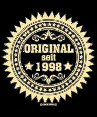 Jahrgang 1990 Geburtstagsshirt: NEU 2016 Original seit - 1998 - RAHMENLOS Jahreszahl Geburtstag