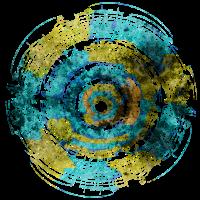 Music Circle Blau Gelb