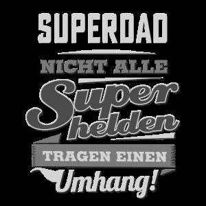 Superhelden Umhang SW : Black White  - Superdad Geburtstag - RAHMENLOS Beruf Job Arbeit lustig