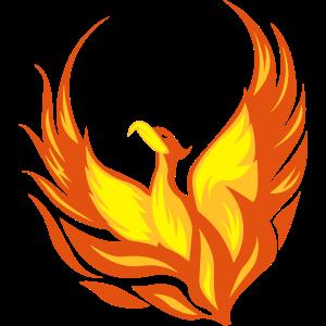 Feuervogel Phönix Flammen Federn