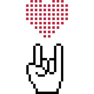 I Love Rock Pixel