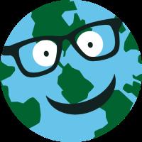 Erde mit Brille