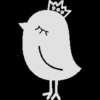Spatz mit Krone