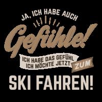 Gefuehle - ich moechte Sport - Ski! - RAHMENLOS sepia Hobby Lustig Geschenk
