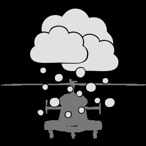 Hubschrauber Schneefall