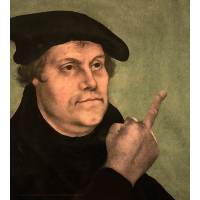 Martin Luther, mit dem StinkeFinger