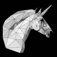 Polygon-Einhorn