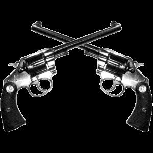 01 zwei Revolver gekreuzigt
