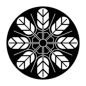 Inoue clan kamon in black