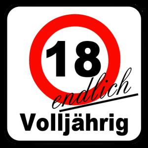 18. Geburtstag, Volljähri ../+