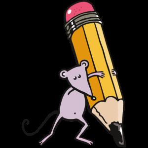 Maus mit Stift