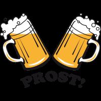 Prost! 2 Bierkruege zum Anstossen