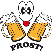 Prost! 2 Bierkruege + Humor, lustig
