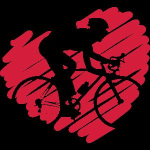 RR-61: Herz mit Rennrad