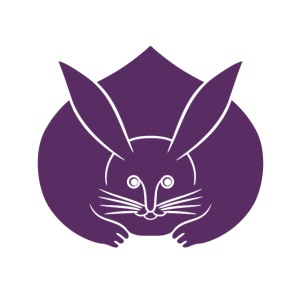Usagi kamon japanese rabbit purple