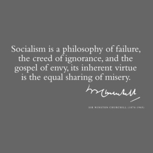 Sir Winston Churchill Quote only