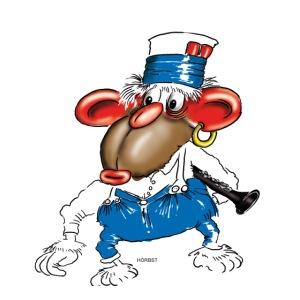 clarinet monkey