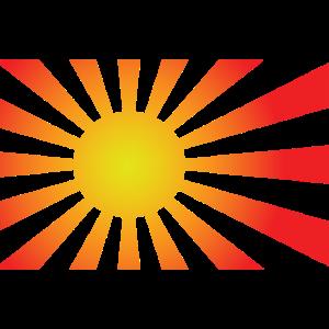 Sonne Sonnenstrahlen Sonnenschein rot