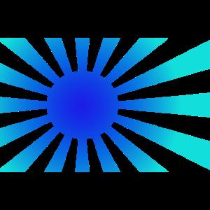 Sonne Sonnenstrahlen Sonnenschein blau
