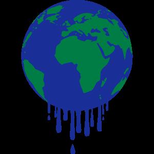 Erderwärmung Klimawandel tropfen Erde Weltkugel