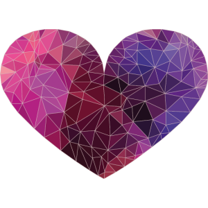 Polygon Heart Strokes