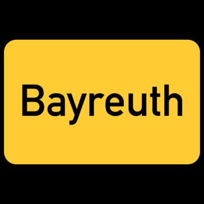 Bayreuth Ortsschild - Das Ortsschild von Bayreuth - Städte,Stadt,Sign,Schild,Motiv,Citymotiv,City,Bayreuth