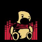 Music Dj bear teddy bär