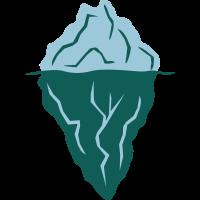 treibender schwimmender Eisberg unter Wasser