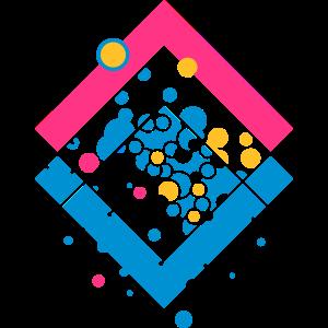 abstrakte Form mit Luftblasen