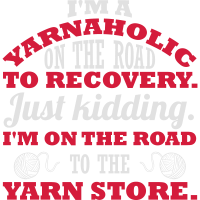 I'm a yarnaholic on the road to recovery.