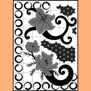 fleurs et graphisme