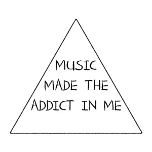 Music Made the Addict in Me Hoody Men