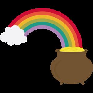 Regenbogen mit Gold