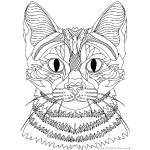 Cat - black lines