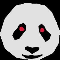 Panda Bär Pandabär cool eckig modern