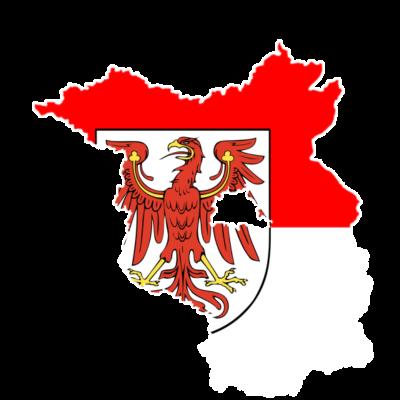 Brandenburg - Bundesland Brandenburg mit integriertem Wappen - Wappen,Karte,Deutschland,Bundesland,Brandenburg,Berlin
