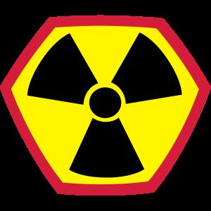 Schild Radioaktiv Radioactive Sign Icon Logo