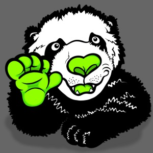 Waving Happy Panda Lime